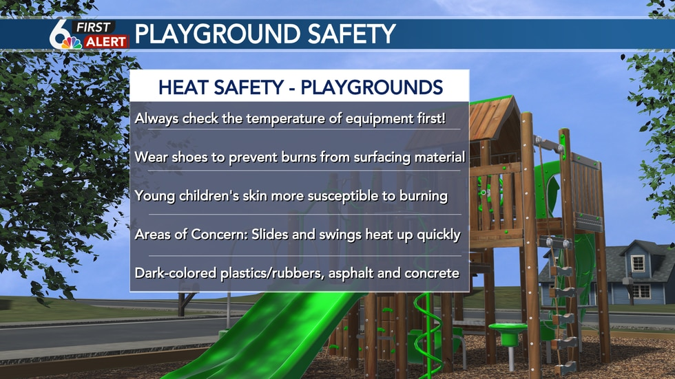 Always check the temperature of playground equipment