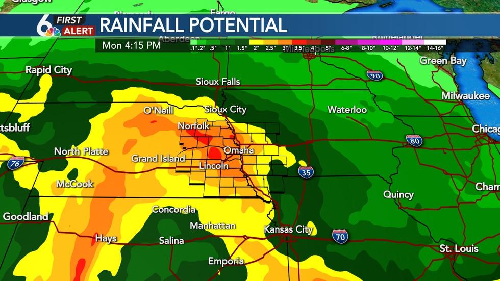 Weekend rainfall potential