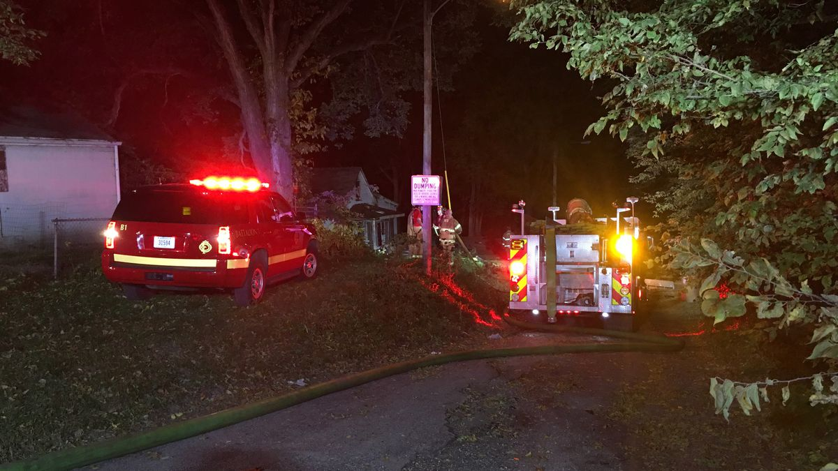 House fire near 15th and Elm streets