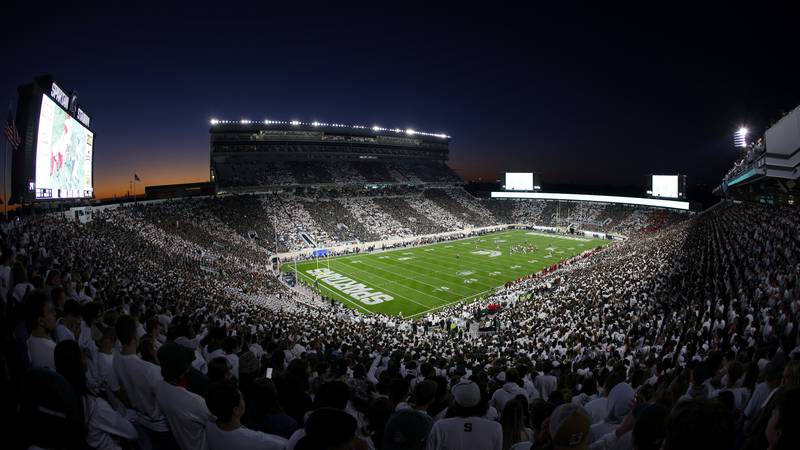 Michigan State and Nebraska play during an NCAA college football game, Saturday, Sept. 25,...