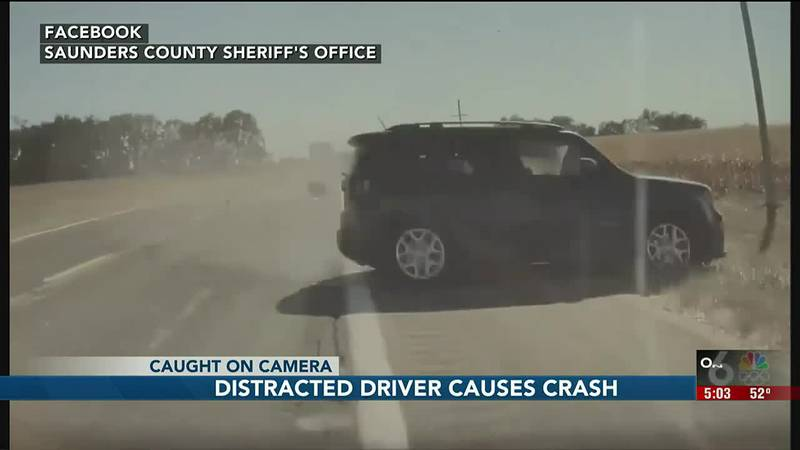Distracted driver causes crash in Saunders County