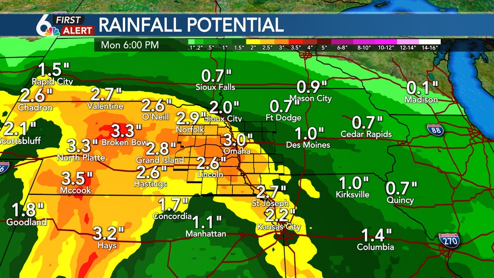 Weekend rainfall potential
