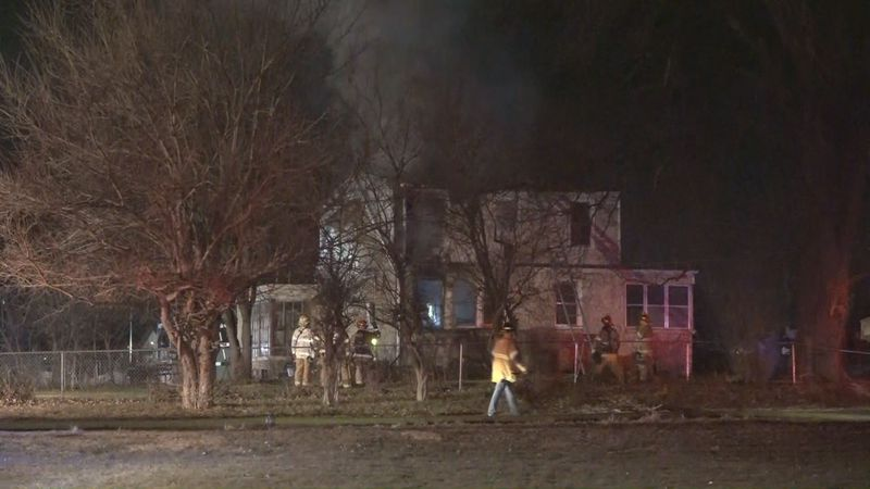 Omaha firefighters battled an early morning fire that left a house with extensive damage.