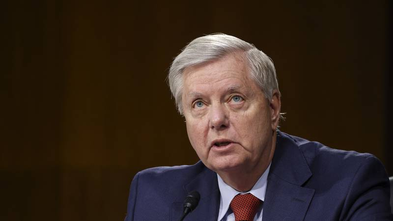 Sen. Lindsey Graham, R-S.C., speaks during a Senate Appropriations Committee hearing, Thursday,...