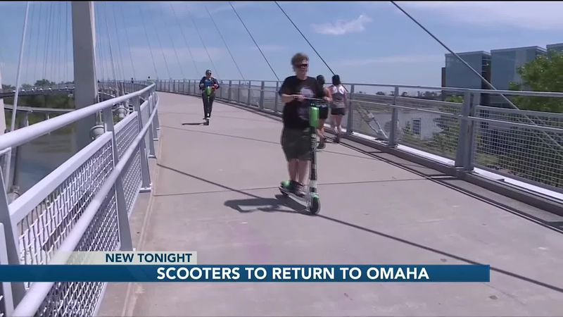 Electric scooters for rent will return to Omaha's streets as the city council approved...