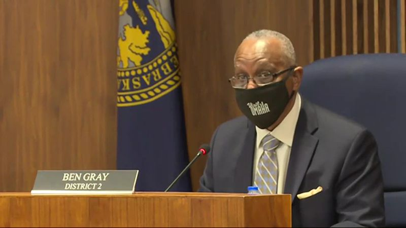 Omaha City Councilman Ben Gray is proposing the city's face mask ordinance stay in place until...