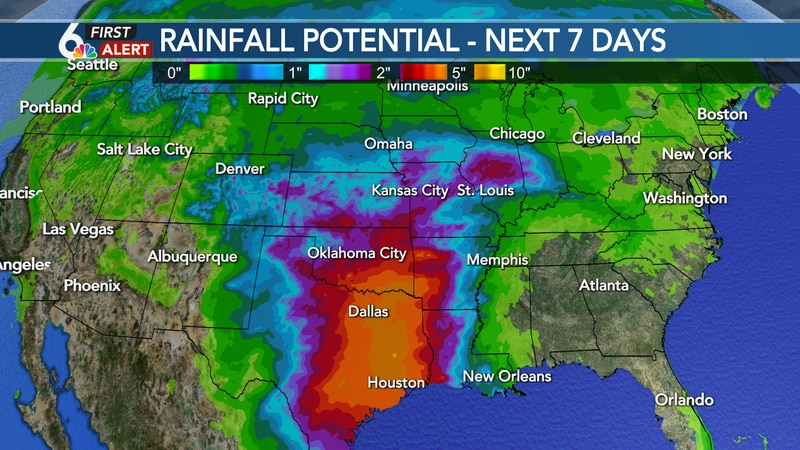 7-day rainfall potential