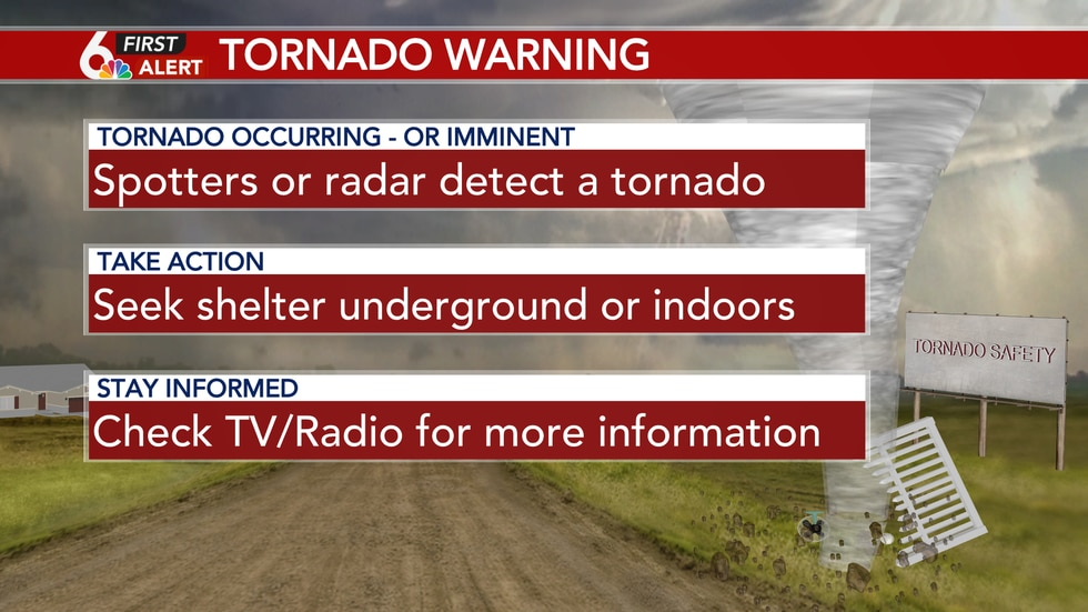 What to do when a tornado warning is issued