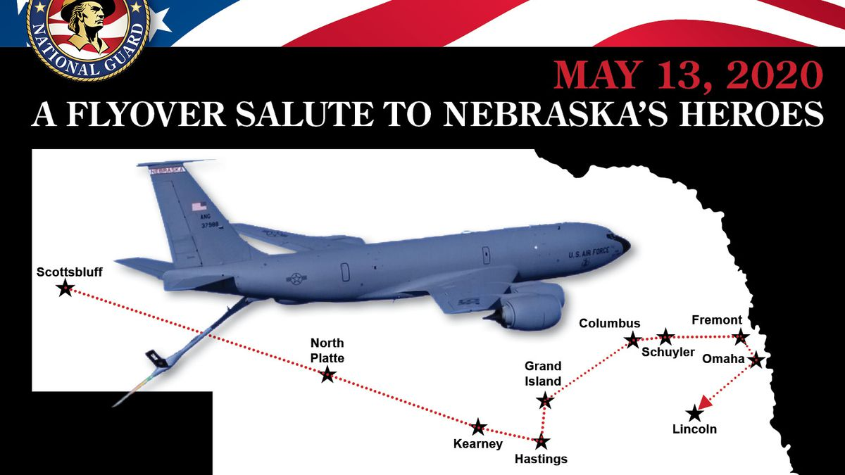 Nebraska Air National Guard Planning Stratotanker Flyover Tour