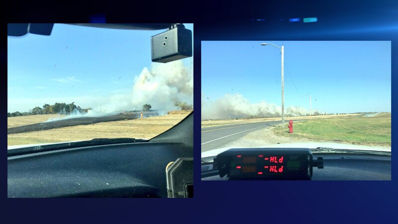 A grass fire broke out just north of the Lincoln Airport, Sunday afternoon.
