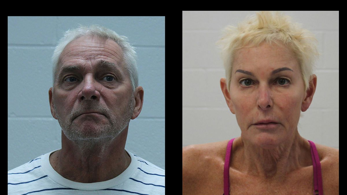 Mugshot of Frank Hoover, 58 (left), and Cindy Hoover, 60 (right).