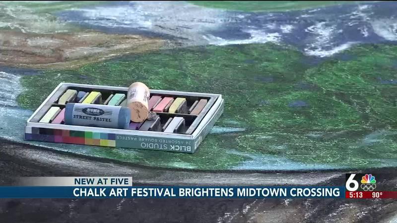 Chalk Art festival brightens Midtown Crossing