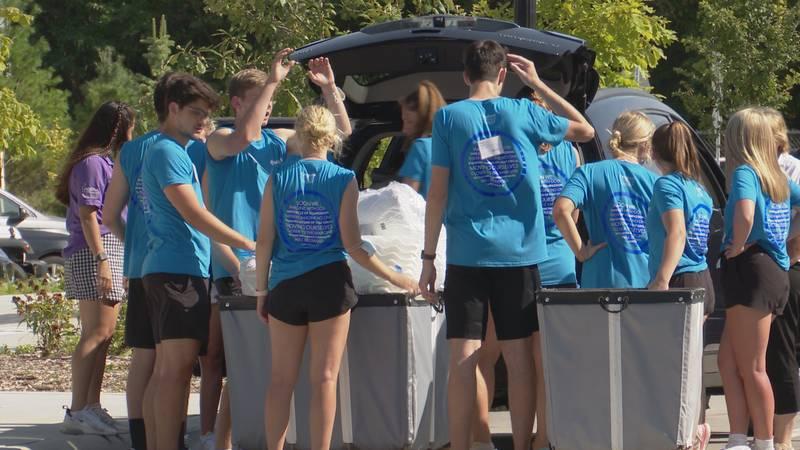 Creighton  University students welcome freshmen for fall semester, 2021