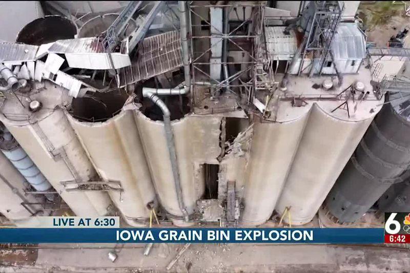 Iowa grain bin explosion - 6:30 pm