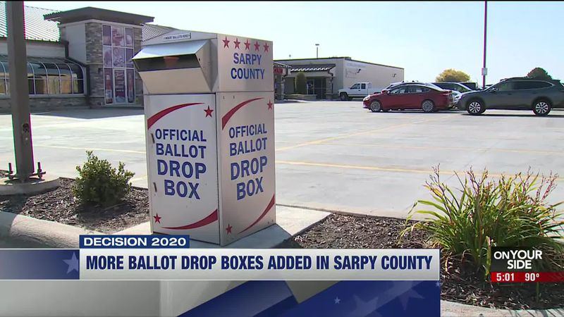 Sarpy County Election Commission officials added more dropboxes in response to a record number...