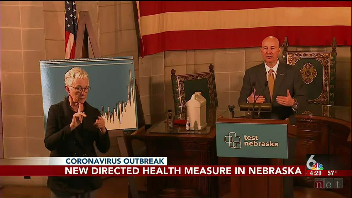 Nebraska Gov. Pete Ricketts announced new directed health measures Friday afternoon, Oct. 16, 2020 — the same day Douglas County reported its highest number of new cases since May.