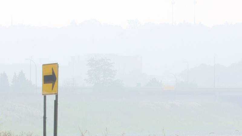 A view of the haze in Mankato, Minn., last week, when Canadian wildfires caused much of the...