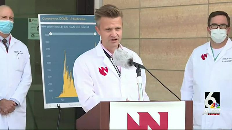 Experts at UNMC/Nebraska Medicine held a news conference Monday afternoon, Oct. 5, 2020, to...