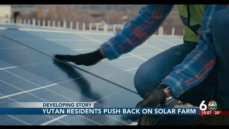 Yutan residents push back on solar farm