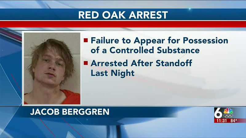 Jacob Berggren was wanted for failing to appear in court for met possession.