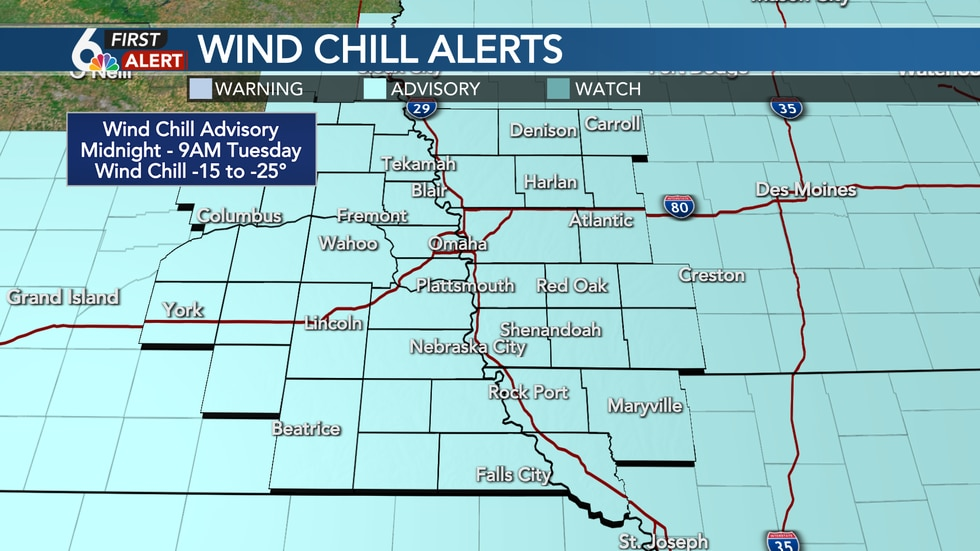 Wind Chill Advisory Tuesday