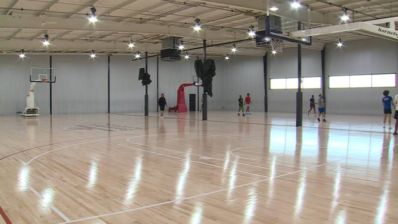 A look inside the newly renovated Going Vertical Basketball Academy.