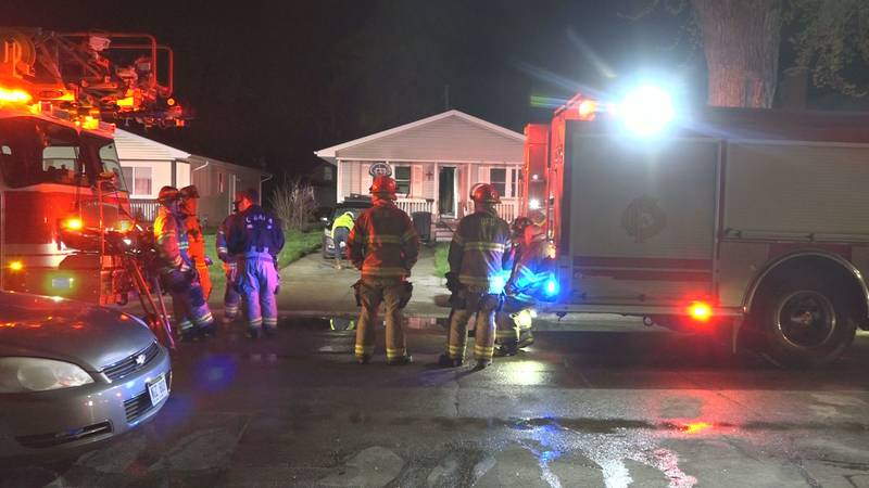 Three people went to the hospital after a fire near 25th and Fort.