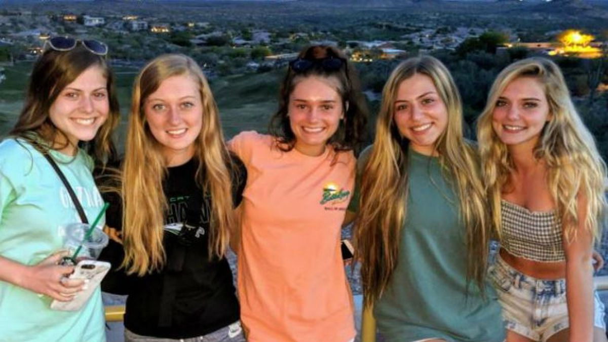 The identities of the victims of a fatal crash in Sarpy County earlier this week were released by the Sheriff's Office on Thursday. From left: Alexandria Minardi, 15, deceased; Addisyn Pfeifer, 16, deceased; Kloe Odermatt, 16, deceased; Roan Brandon, 15, in the hospital; Abigail Barth, 16, deceased. (Source: Sarpy County Sheriff's Office)