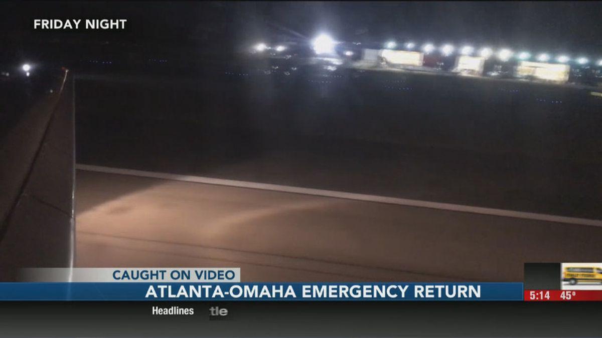 Delta Flight 821 returned to the Atlanta gate October 4th after returning during an Omaha-bound flight.