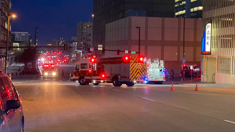 Omaha fire crews responded to the scene of an underground fire.