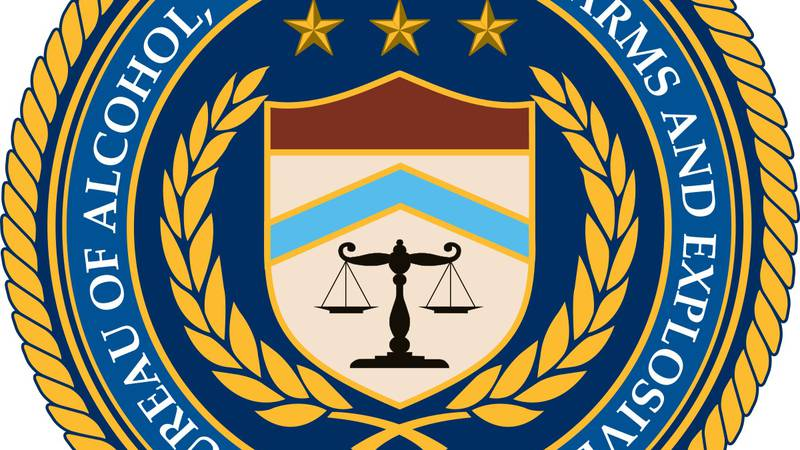 Official logo from the Bureau of Alcohol, Tobacco, Firearms and Explosives (ATF)