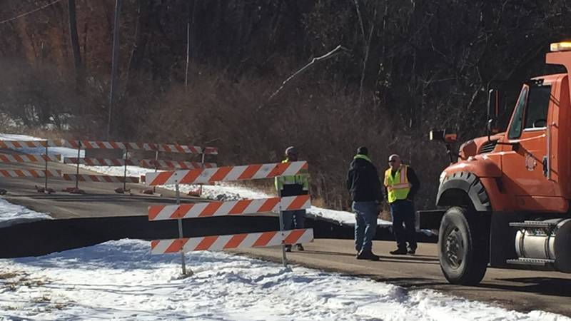 36th and Ponca road collapse