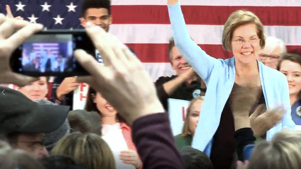 Democratic presidential hopeful Elizabeth Warren brought her 2020 bid to a town hall in...