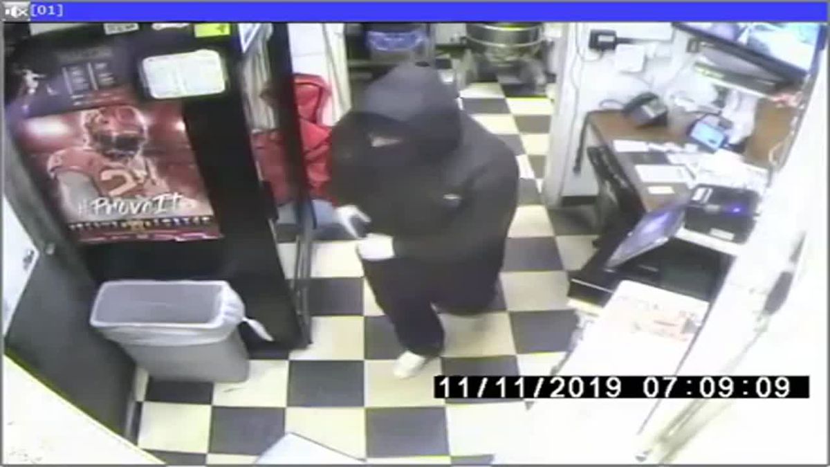 Omaha Police on Monday, Nov. 11, 2019, were looking for an armed robber who held up a metro restaurant and forced an employee into a freezer. (Courtesy of Omaha Police Department)