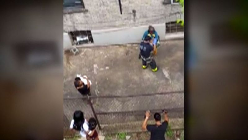 Neighbors captured the aftermath of the frightening incident on cell phone video that shows...