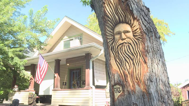 Passersby can't get enough of the new addition to Ellyn Grant's Dundee home, carved out of what...