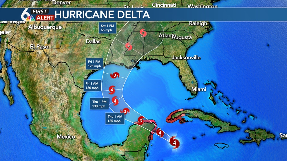 Hurricane Delta - 4PM Update