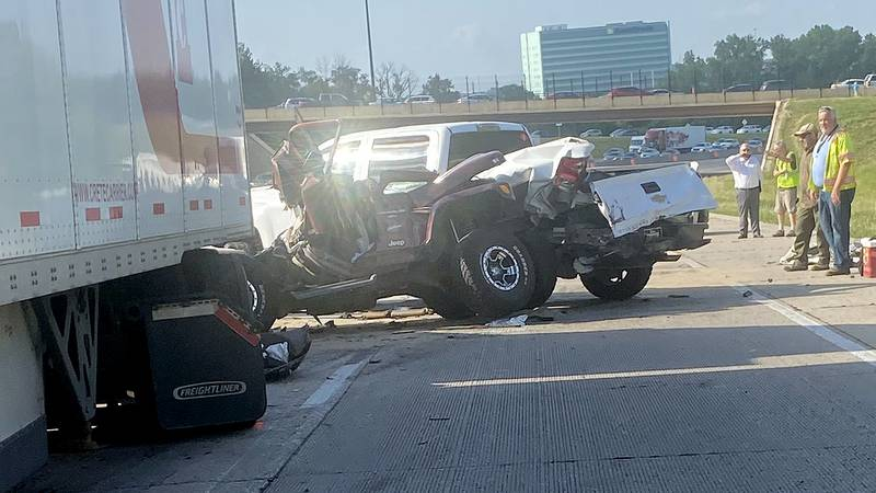 At least three people were hurt in a crash on Interstate 680 around 4 p.m. Thursday, July 1,...