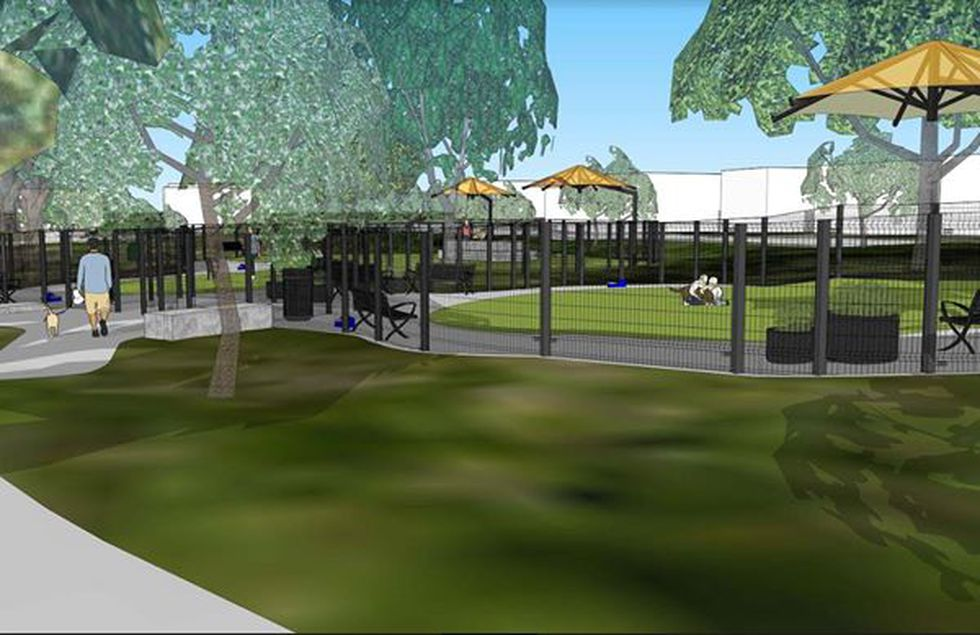Construction for new dog park at Miller Park is underway.