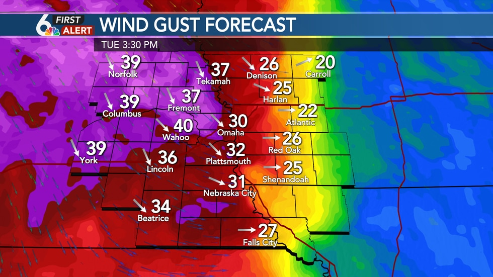 Windy conditions expected Tuesday