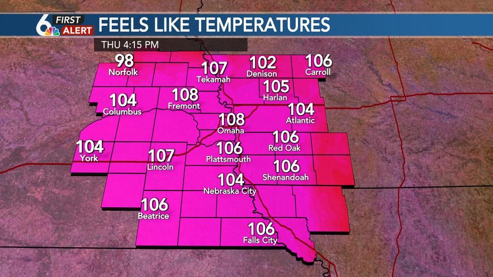 Thursday Heat Index Forecast