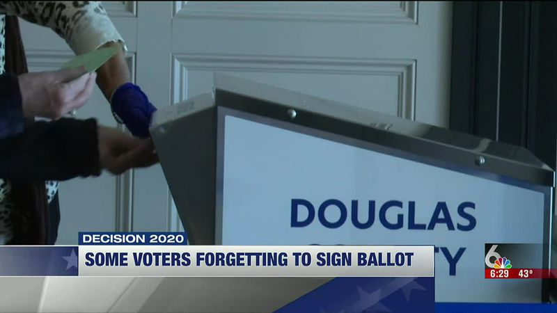 Fewer people than usual are getting their early ballots rejected by Douglas County.