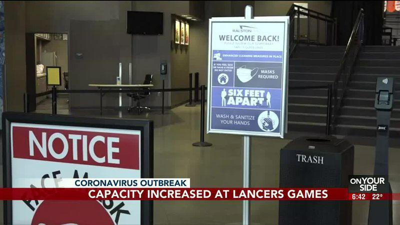Capacity increased at Lancers games