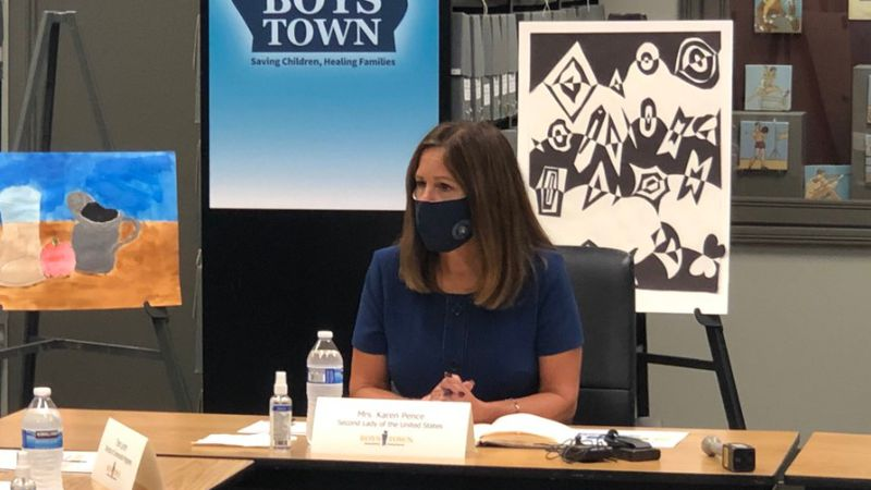 Karen Pence in Omaha
