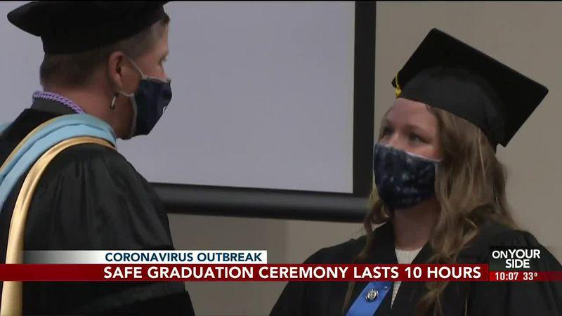 Clarkson College's 10-hour graduation ceremony