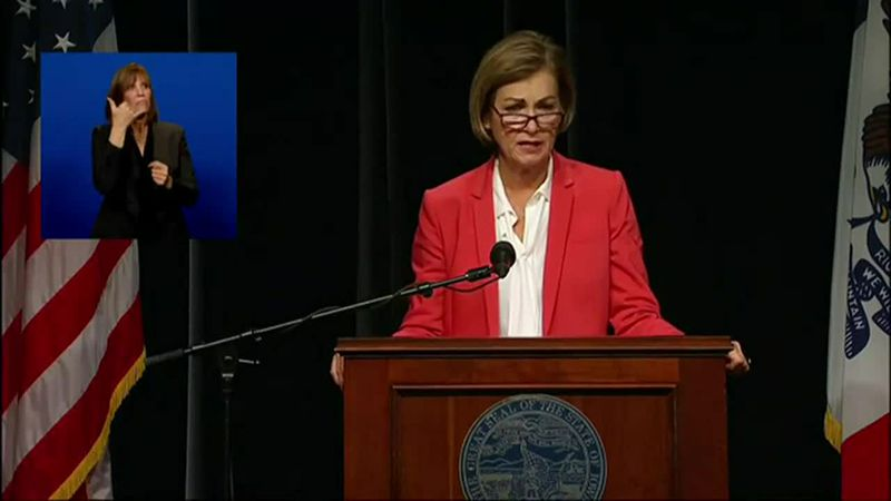 Iowa Gov. Kim Reynolds on Wednesday gave a COVID-19 briefing.