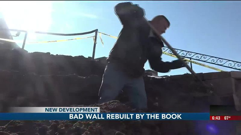 An elderly Bellevue couple spent thousands of dollars on a retaining wall that ended up with...