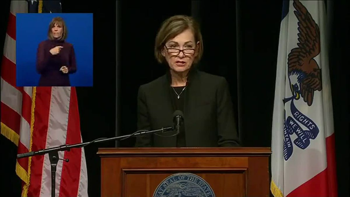 Gov. Reynolds held a press conference to give updates on the state's pandemic response in...