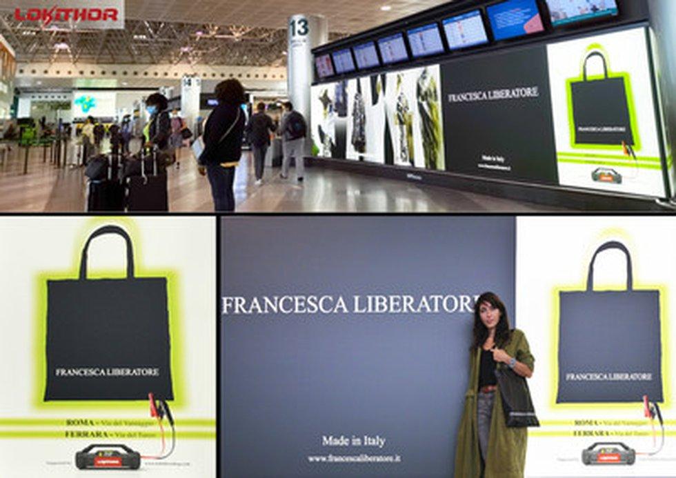 Location: Gate 13 of Malpensa International Airport, Milan, Italy (Billboard); Time Period: 1st...