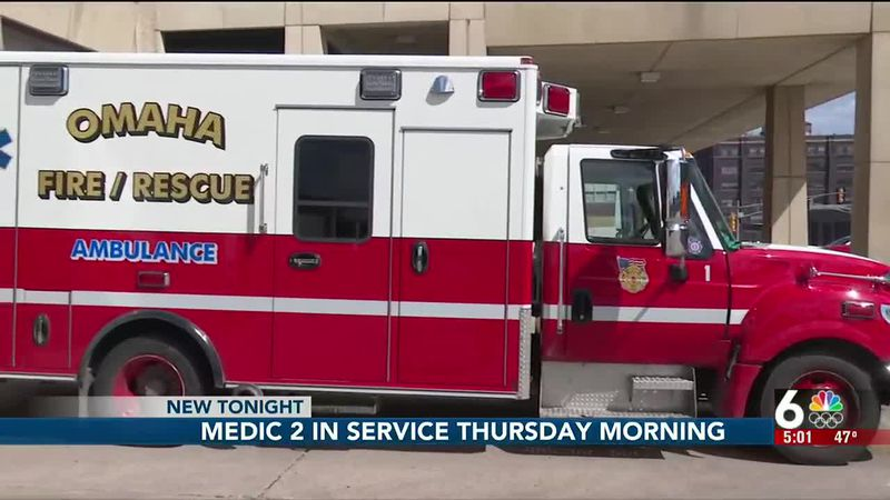 Omaha Fire's Medic 2 going back into service